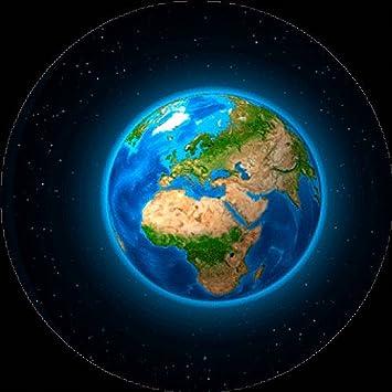 Erde Karte Rund.Amazon De Erde Europa Und Afrika 3d Linsenraster Rund Maxi