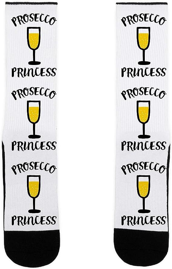 LookHUMAN Prosecco Princess US Size 7-13 Socks