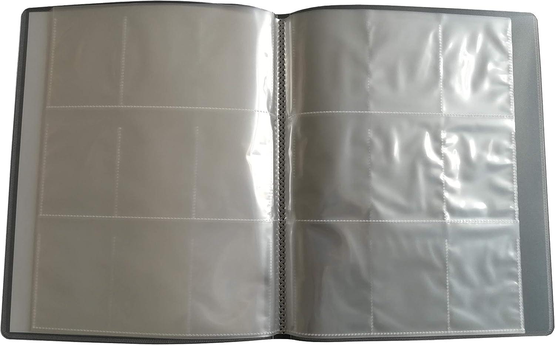 2 Stück Neutrale Trading Cards Sammelmappe 24 x 9 Fächer auf 12 Doppelseiten