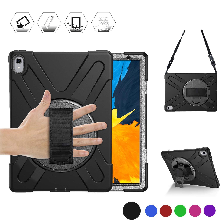正規 BRAECN iPad 丈夫なケース Pro 11ケース 高耐久 耐衝撃 丈夫なケース iPad 360度ハンドストラップ ブラック/キックスタンドとショルダーストラップ付き Apple iPad Pro 11インチ 2018タブレット用 [Apple Pencil充電はサポートされていません] HD-PRO11-BLACK ブラック B07L4LS857, タイシャマチ:415de121 --- a0267596.xsph.ru