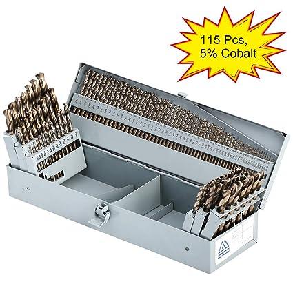 Cobalt Drill Bit Set >> Comoware Cobalt Drill Bit Set 115pcs M35 High Speed Steel Twist