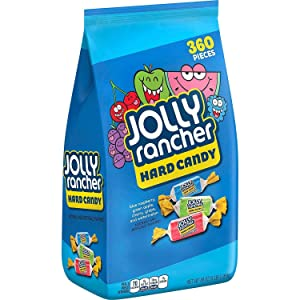 JOLLY RANCHER Assorted Valentines Day Candy, Bulk Candy, Blue Raspberry, Green Apple, Cherry, Grape and Watermelon, 5lb Bag, 3 Pack