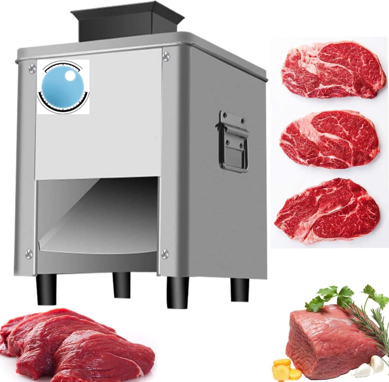 Newtry - Cortadora de carne (300 libras/H, 850 W, para el hogar y comercial, de acero inoxidable, eléctrico, de pollo y pescado, carne de vacuno (con una hoja de 15 mm)