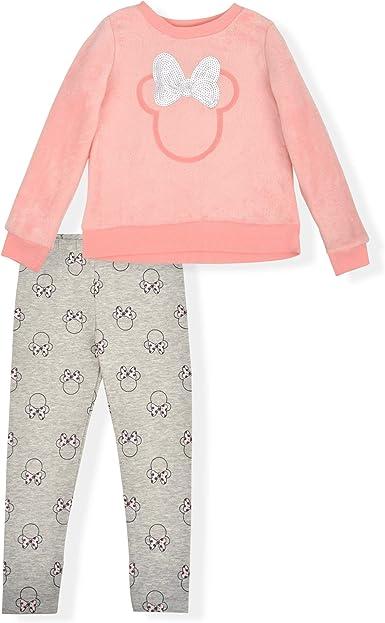 Disney Minnie Mouse Girls 2 Piece hoodie pant set Shirt and Pants