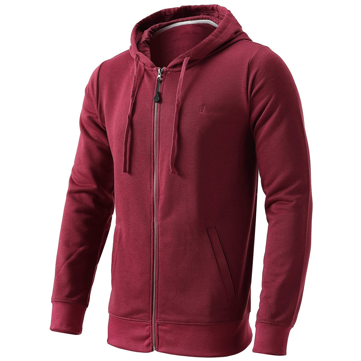INFLATION Men's Zip-up Hoodie Long Sleeve French Terry Lightweight Basic Zip-up Hoodie Jacket 8 Color Choices by INFLATION (Image #2)