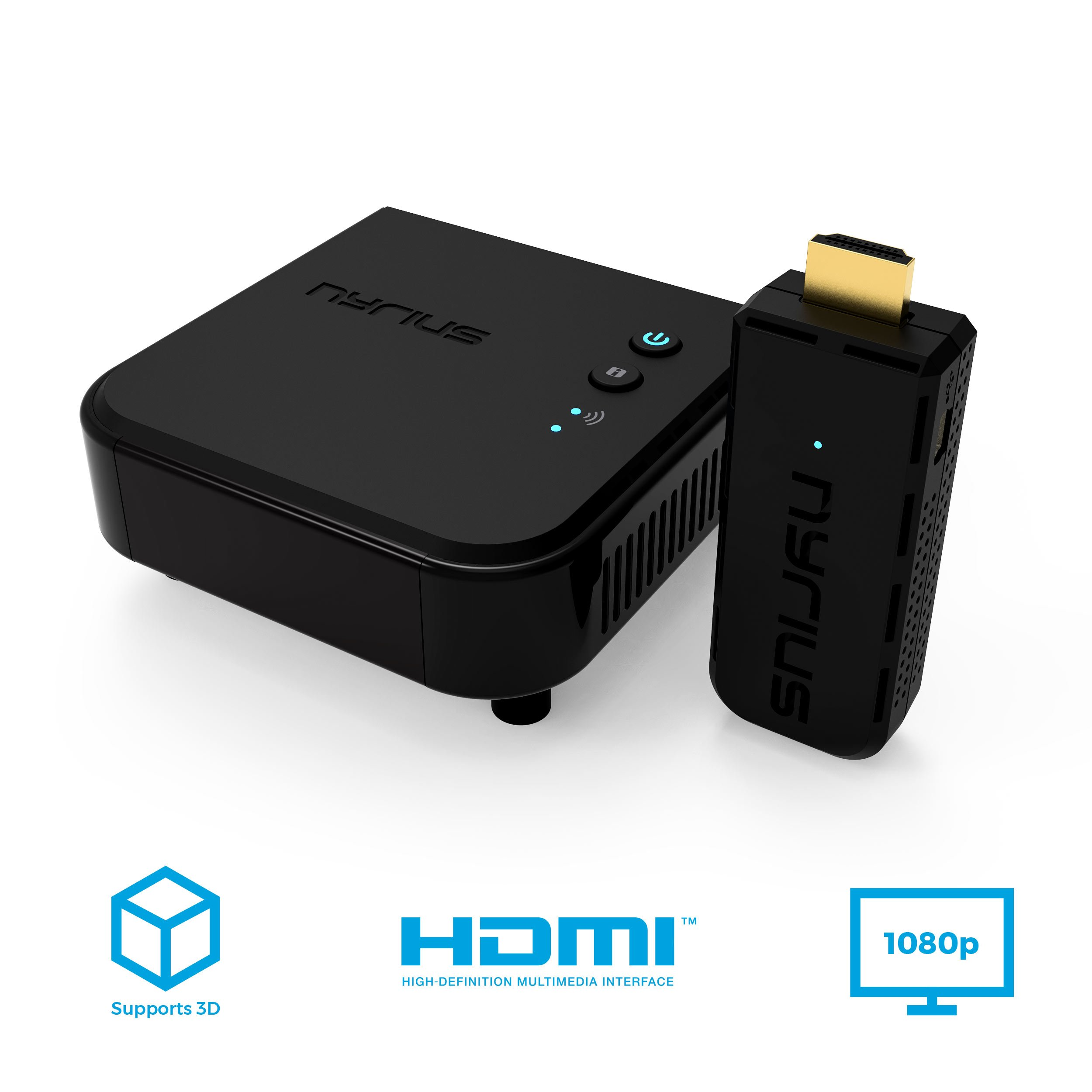 Nyrius Aries Prime Wireless Video HDMI Transmitter & Receiver for Streaming HD 1080p 3D Video & Digital Audio from Laptop, PC, Cable, Netflix, YouTube, PS4, Xbox One to HDTV/Projector (NPCS549) by Nyrius (Image #8)