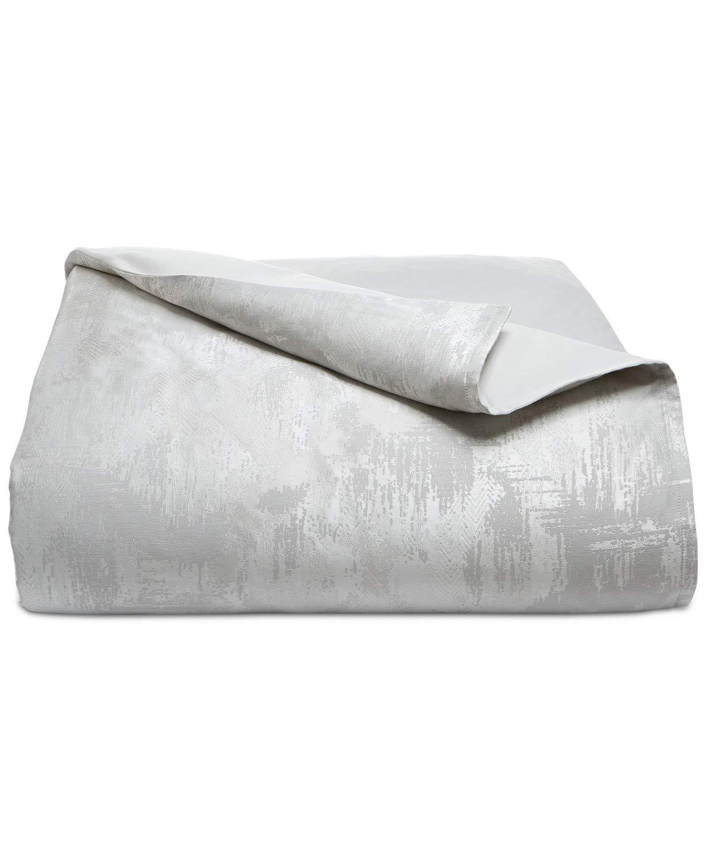 Hotel Collection Interlattice King Comforter Silver Abstract Textured Finish