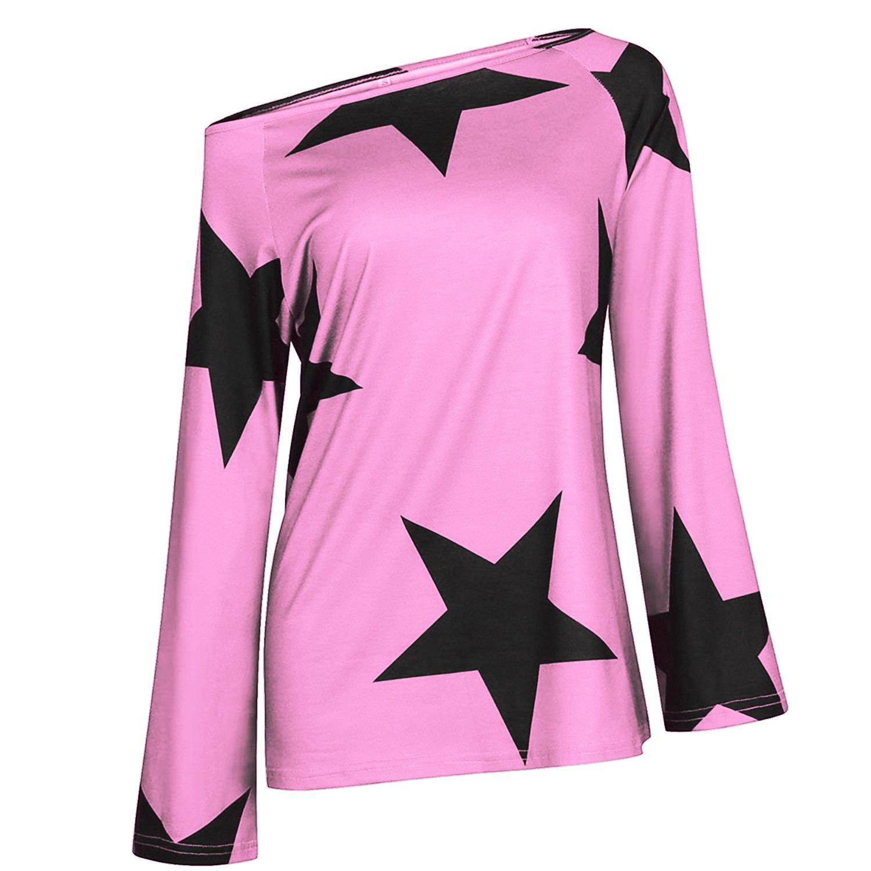 MAKARTHY Womens Long Sleeve Letter Print Sweatshirt Crop Top Hoodies PIN-L