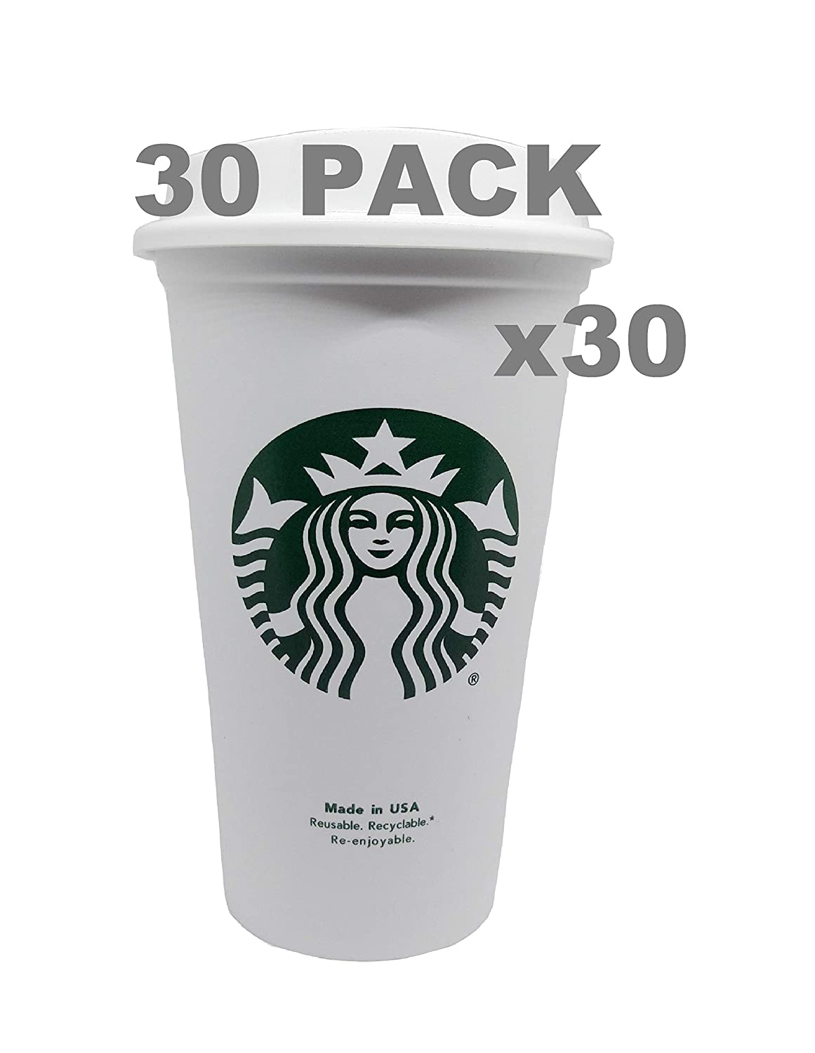 Starbucks Reusable Travel Cup To Go Coffee Cup (Grande 16 Oz)3 pack