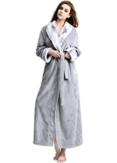 a453636157 Women Long Robes Soft Fleece Winter Warm Housecoats Womens Bathrobe  Dressing Gown Sleepwear Pajamas Top