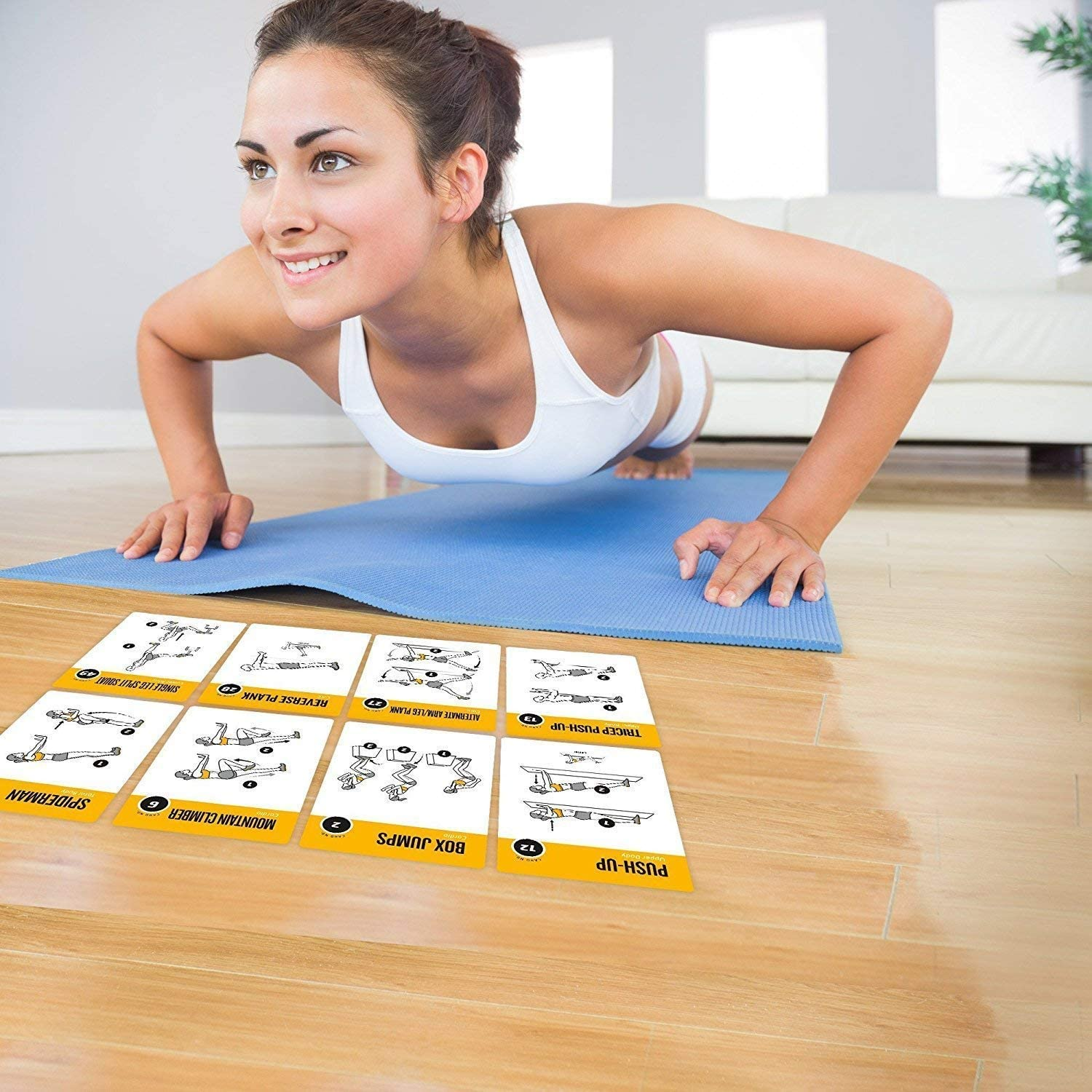Exercise Cards BODYWEIGHT - Home Gym Workout Personal Trainer Fitness Program