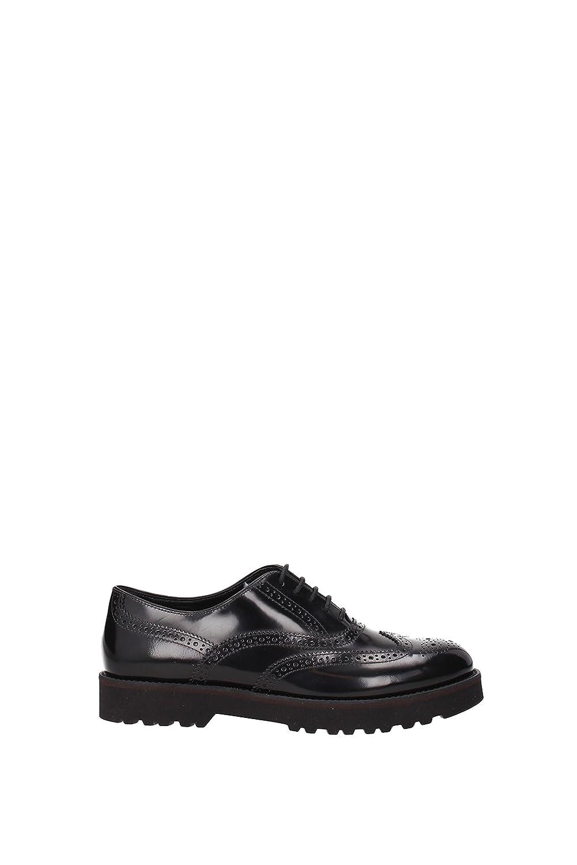 Hogan - Zapatos de cordones de Piel para mujer * 38.5 EU negro