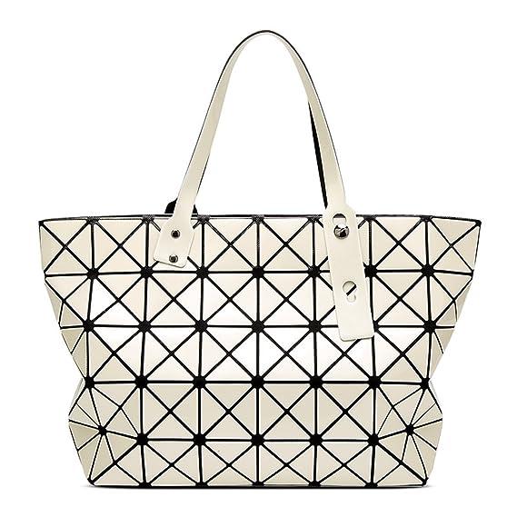 Ladies 7   8 Patent Leather Bright Face Handbags Japanese Trend Shoulder Bag  Lingge Rubik s Cube 3efd1853e8407