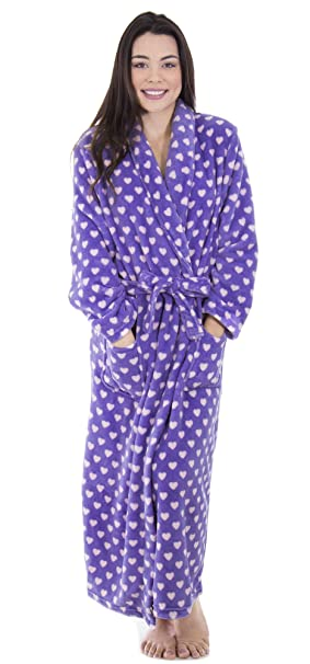 2a6d1b4bef Image Unavailable. Image not available for. Color  Simplicity Women s  Winter Warm Fleece Plush Kimono Bathrobe with Pockets ...
