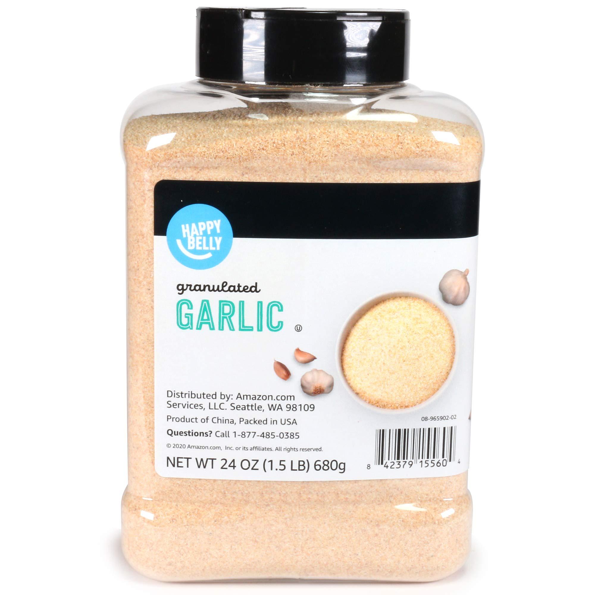 Amazon Brand - Happy Belly Granulated Garlic, 24 Ounces