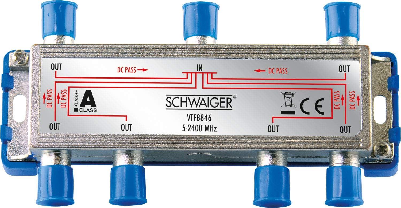 Schwaiger Vtf8846241 High End Verteiler 6 Fach Für Bk Elektronik