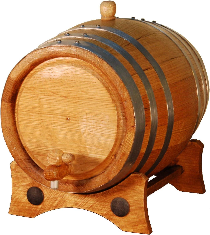Barril artesanal de roble americano de 5 litros. Kit de añejamiento