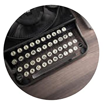 alfombrilla de ratón vieja máquina de escribir sobre una mesa de madera - ronda - 20cm