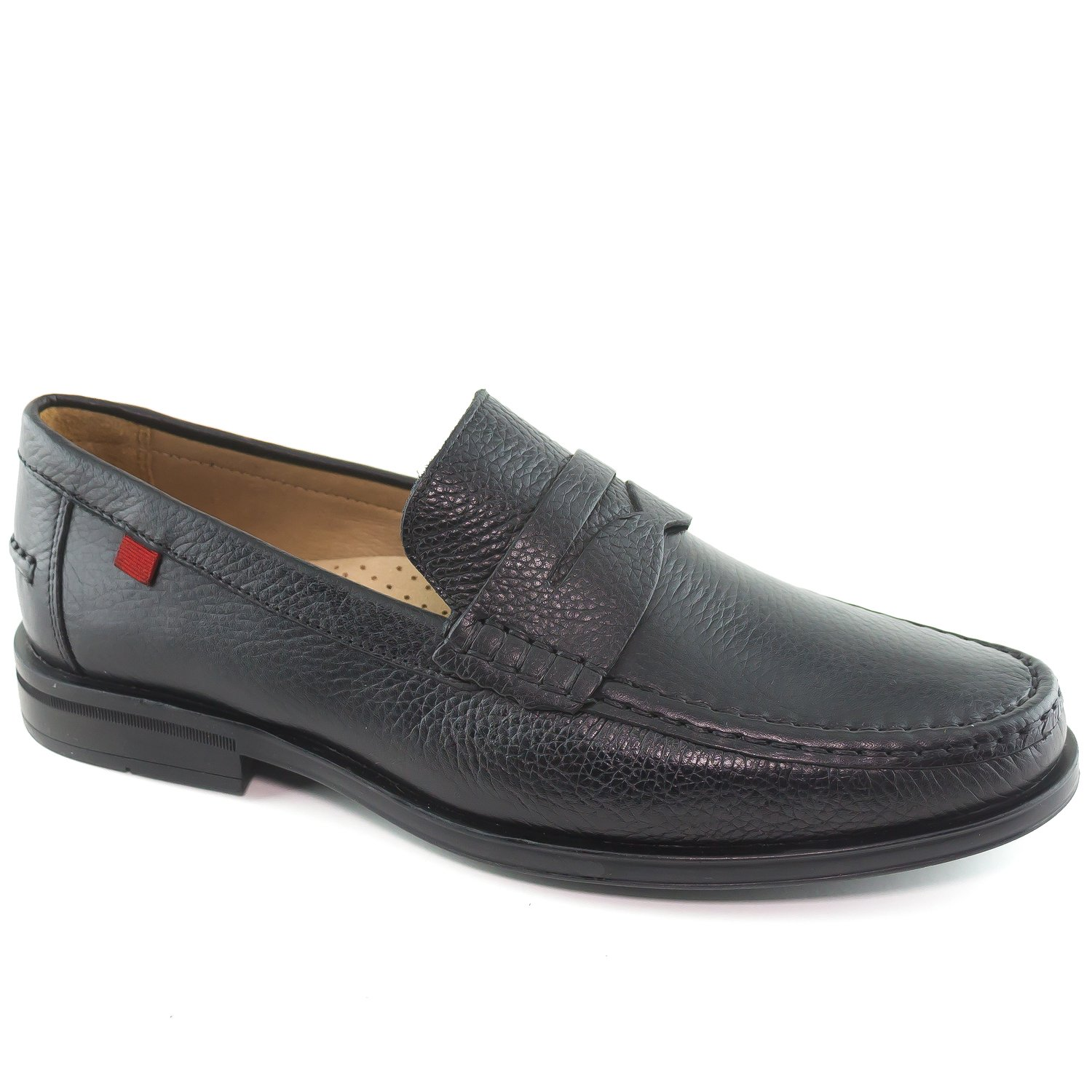 Mens Genuine Leather Made in Brazil Cortland Street Black Grainy Leather Loafers 12