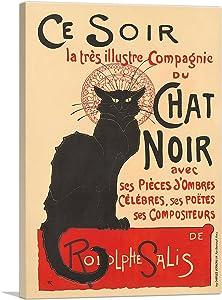 ARTCANVAS La Tournee du Chat Noir 1896 Canvas Art Print by Theophile Steinlen - 26