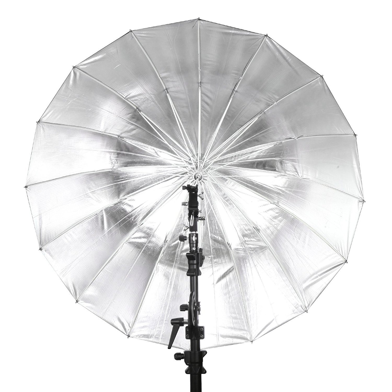 Selens 65 Inch 16 Rods Professional Photography Photo Studio Parabolic Reflective Lighting Umbrella, 23 Inch Depth Black/Silver by Selens (Image #7)