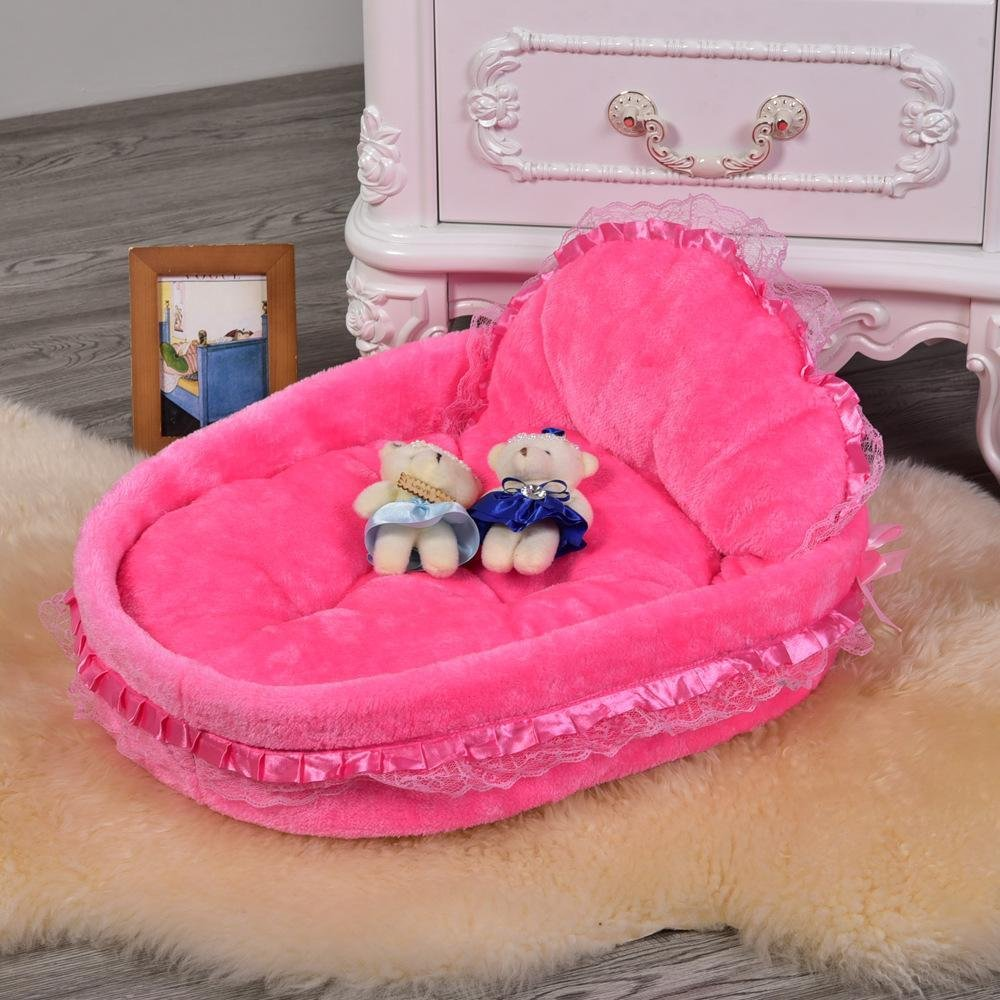 475312 Dixinla Pet Bed Candy color Round nest pet Litter Bed cat Dog General PS