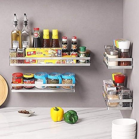 Cocina especia estante estante de la especia especiero en bastidor perforado pared de la cocina de rack rack de almacenamiento multifunci/ón,20CM