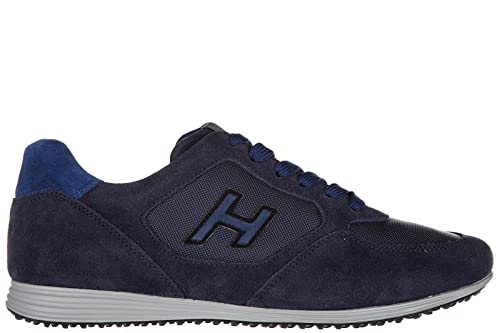Hogan scarpe sneakers uomo camoscio nuove olympia h205 blu EU 44  HXM2050U67167A697T  Amazon.it  Scarpe e borse 38695aa76ab