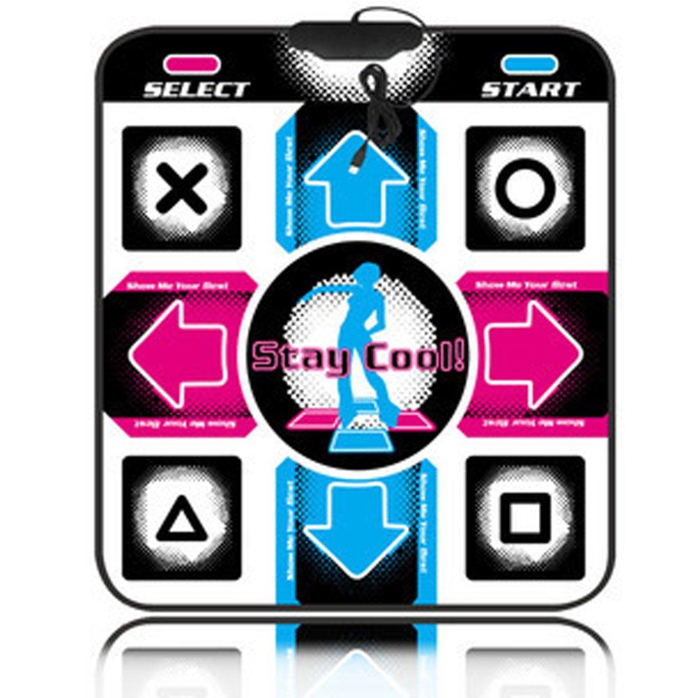 ningxianingaihuadianzishangwuyouxiangongsi Dance Mat Non-Slip Dancing Blanket Dancing Step Pads to PC TV AV Video Game set Entertainment and Fitness