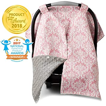 Prime 2 In 1 Carseat Canopy And Nursing Cover Up With Peekaboo Opening Large Infant Car Seat Canopy For Girl Best Baby Shower Gift For Breastfeeding Creativecarmelina Interior Chair Design Creativecarmelinacom