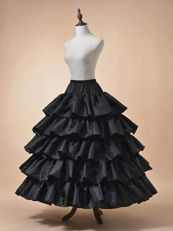 Remedios 4 Hoops Wedding Petticoat Ruffled Ball Gown Underskirt ...