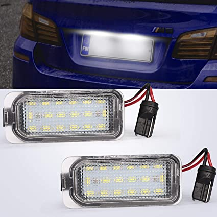 Number Plate lights LED Rear Licence Number Plate Lamps for J-aguar XJ XF Fiesta F-ocus S-MAX Grand C-max M-ondeo K-uga Galaxy,Canbus 6000K Xenon Cold White 2 Packs