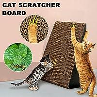 Triangle Cat Corrugated Scratcher Kitten Pet Claw Cardboard Scratching Post Board Bed Toy Mat Pad Catnip