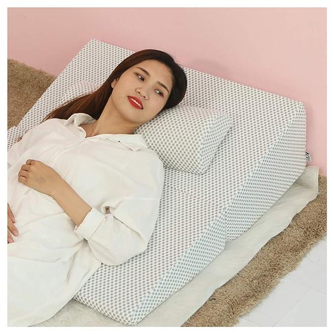 cu/ña de almohada con funda lavable Almohada de reflujo /ácido La mejor for dormir despu/és de la cirug/ía Almohadas de cu/ña de cama reflujo /ácido lectura ronquidos y trastornos de la respiraci/ón del