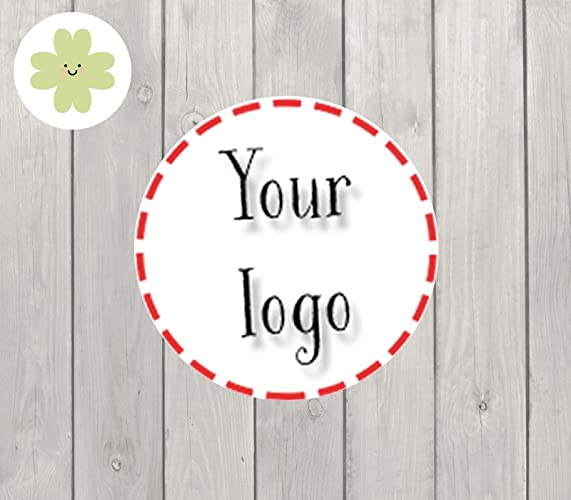 Business logo fully personalised stickers