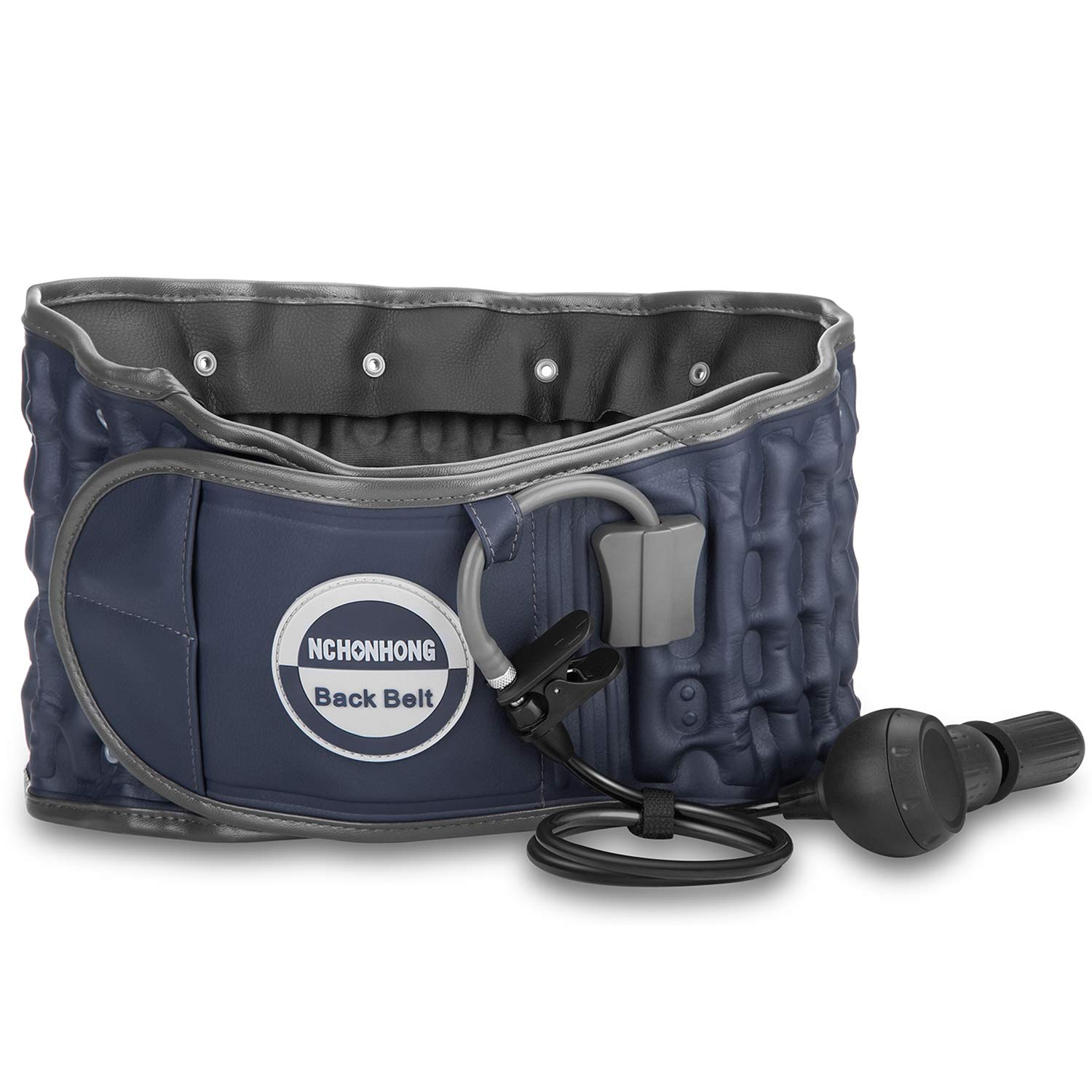 Decompression Back Belt by GINEKOO - Spinal Air Traction Belt for Lumbar Support and Lower Back Pain, Back Support & Lumbar Traction Belt, Navy Blue(29-49 inch Waists) by GINEKOO