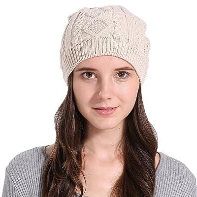 Youson Girl® Femmes Chapeau tricoté Chapeau d hiver Automne Chaud Chapeau  de Crâne Manchette e8878ed284e