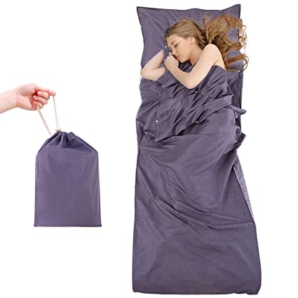 Saco de dormir, Portatil travel sheet, Sleeping bag liner, Cómodo para viajes hotel
