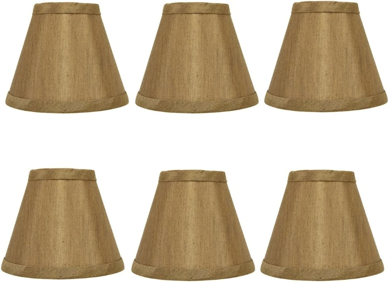 Upgradelights Bronze Silk 5 Inch Clip On Empire Chandelier Lampshades Set Of 6 2 5x5x4 25 Lampshades Amazon Com