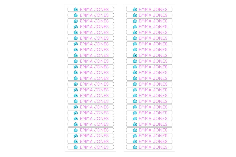 Mesurer 4,2 x 0,5 cm 50 Mini /étiquettes adh/ésives personnalis/ées pour marquer des objets stylos crayons etc Couleur Jaune Pastel