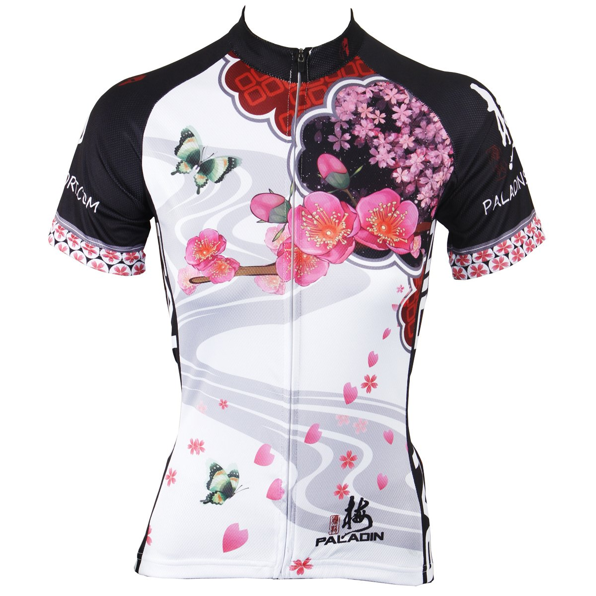 Paladin Cycling Jersey for Women Short Sleeve Plum Flower Pattern Bike Shirt c463051d6b49