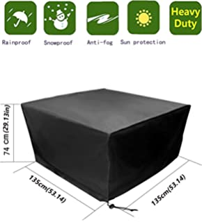 black garden furniture covers. Anderlay Furniture Covers Polyester Oxford Waterproof Outdoor Garden Table And Chair Black 135× N
