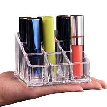 Naladoo Transparent Mini Luxury Acrylic 9 Lattices Lipsticks Nail