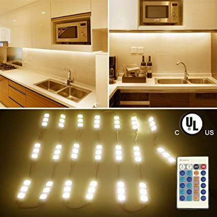 Exceptional LUNSY Under Cabinet Lighting Plug In, Soft Warm White 10ft 60leds, 2400lm  Closet Kitchen