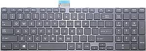 New US Black English Laptop Keyboard Replacement for Toshiba Satellite L855 (PSKG6C-024001) L855-S5112 L855-S5113 L855-S5119 L855-S5121 L855-S5136 L855-S5136NR L855-S5138NR