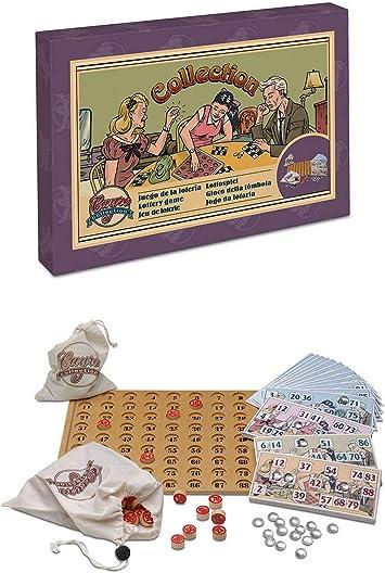 ONOGAL Juego de La Loteria Bingo de Coleccion Años 20 con Tablero Fichas Cartones 533c: Amazon.es: Juguetes y juegos