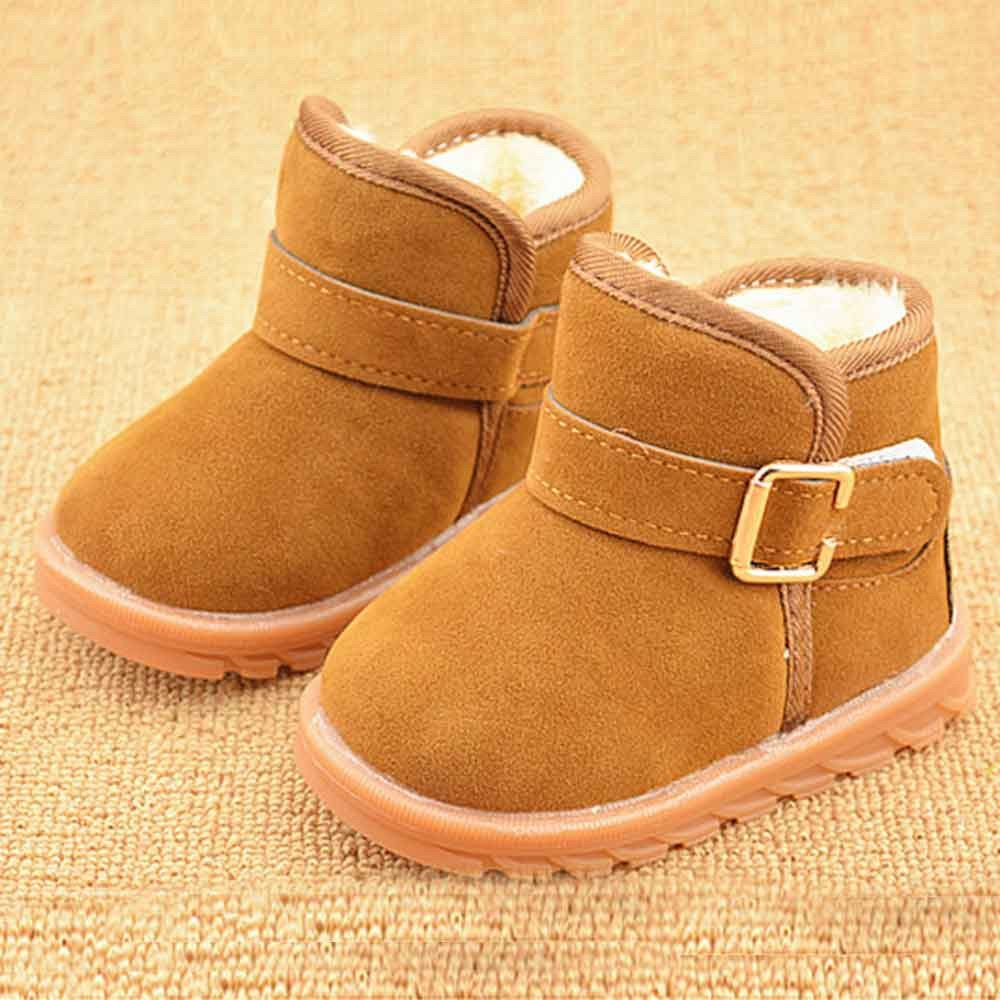 Artificial Velvet Skin Waterproof Windproof and Keep Warm Snow Boots,Winter Baby Child Style Cotton Boot