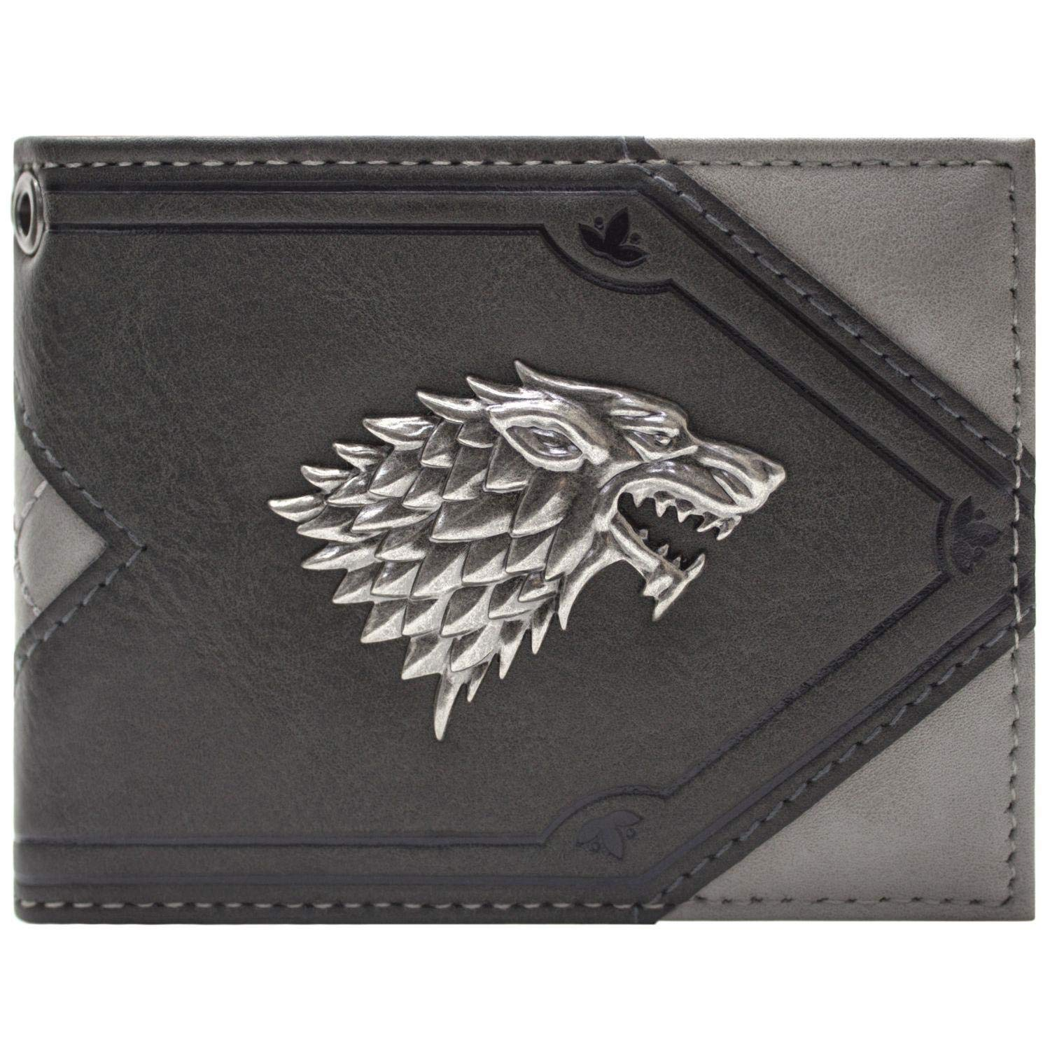 House Stark Game of Thrones Dire Loup Portefeuille Gris