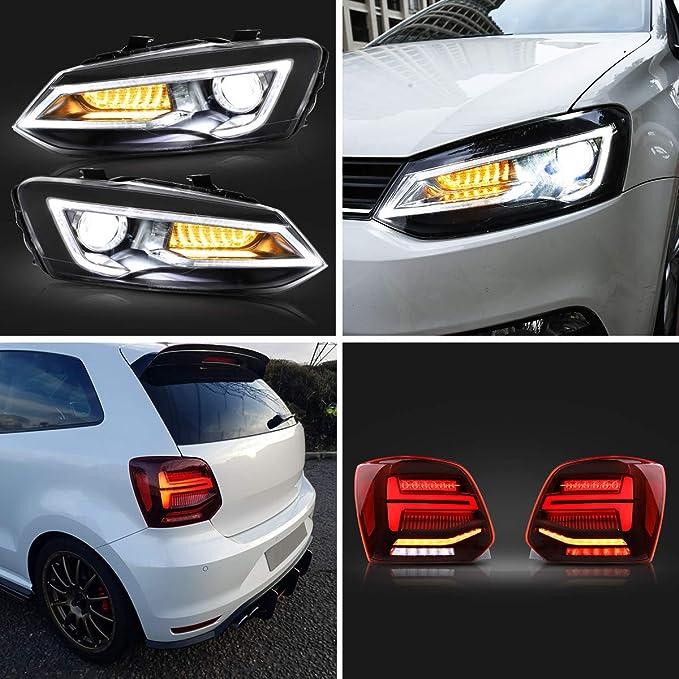 Faros delanteros y luces traseras VLAND para Polo MK5 6R 6C TDI ...