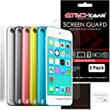 TECHGEAR [3 Pack] Screen Protectors for iPod Touch 6 & iPod Touch 5 (16GB 32GB 64GB 128GB) - Clear Lcd Screen Protector Covers Compatible with iPod Touch 5 and iPod 6 [5th & 6th Generation]